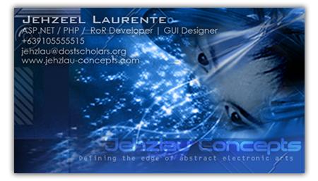 Jehzlau Old Business Card