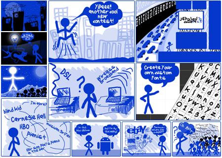 2010 Blue Stickman Doodles