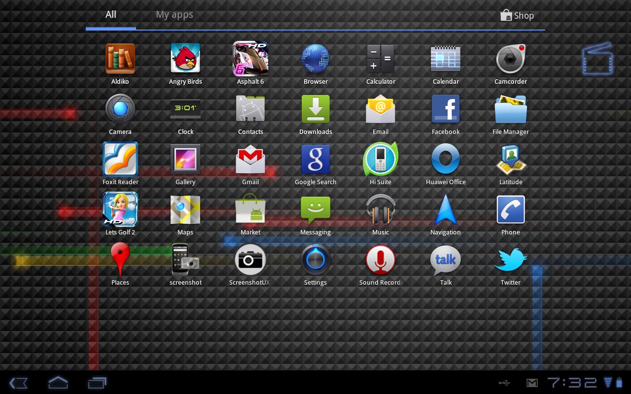 Screenshot of the HD 720p App UI
