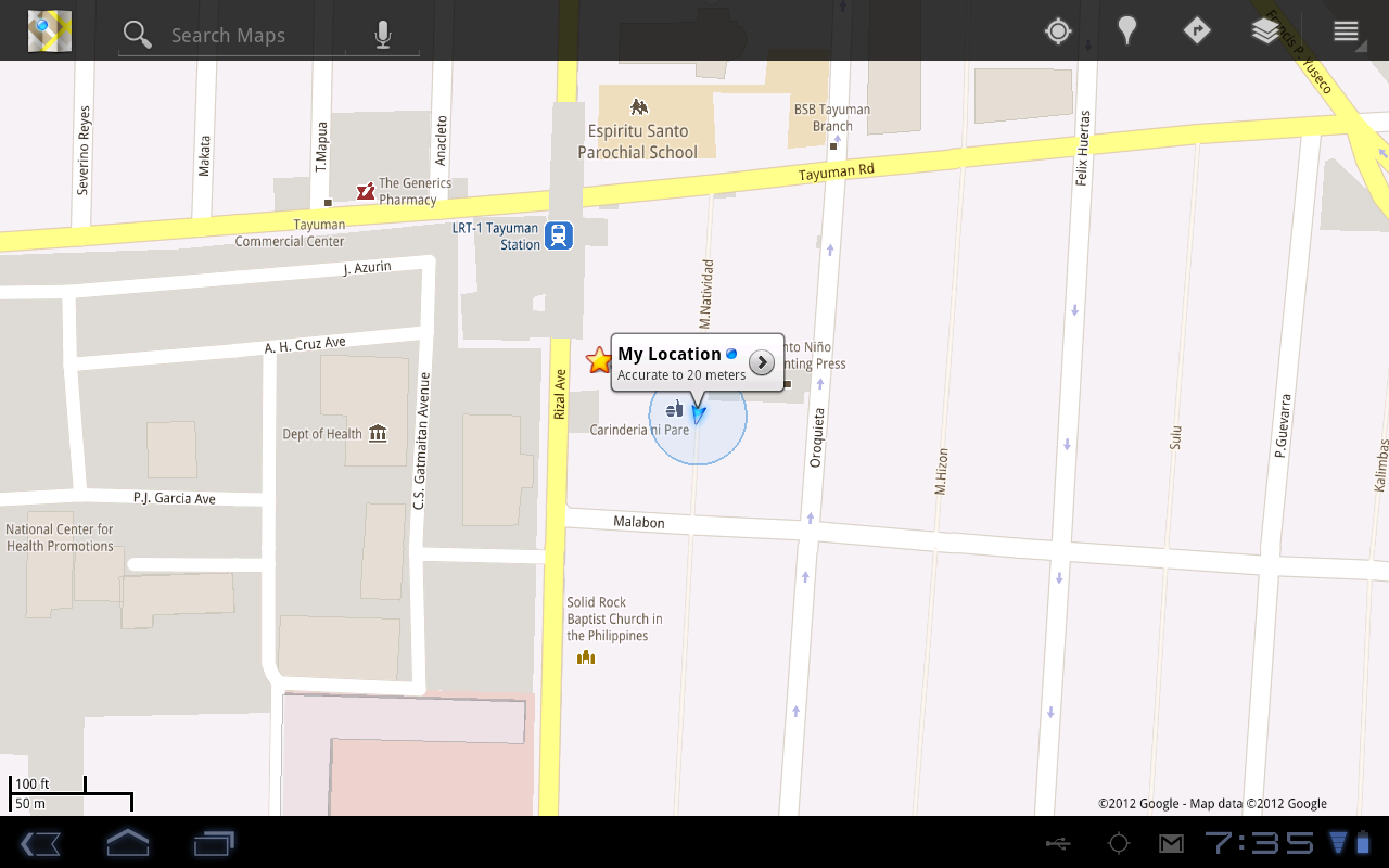 Huawei Media GPS in Google Maps