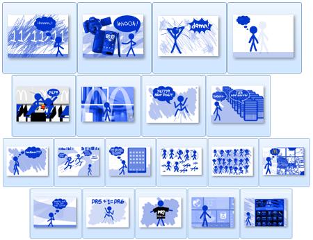 2011 Blue Stickman Doodles