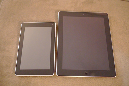 Huawei Mediapad and iPad 2 side by side