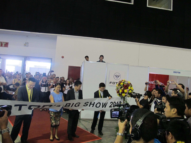 Foton Big Show 2013 Ribbon Cutting